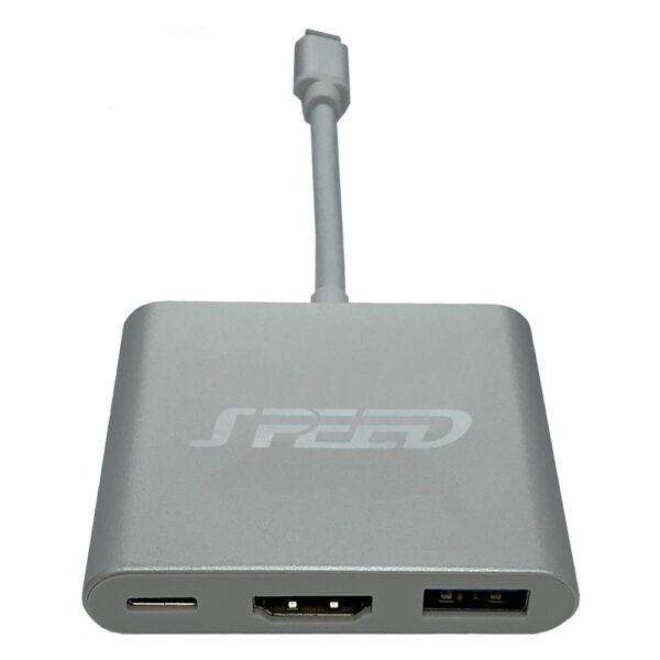 SPEED USB TYPE-C - HDMI/USB/PD ADAPTER usb c hup
