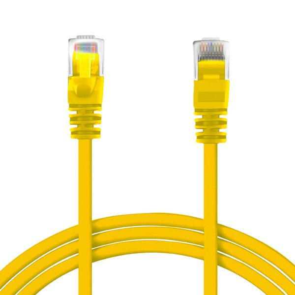 SPEED 0.25M RJ45 CAT6 PATCH CABLE YELLOW CAB rj45 yellow