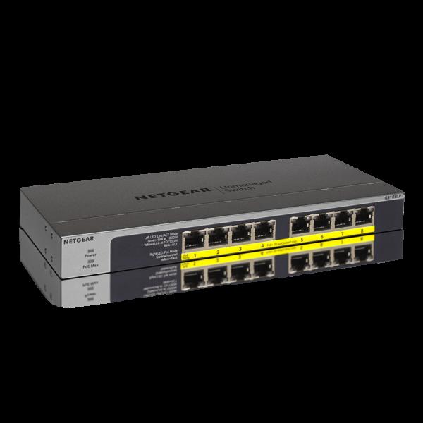 Netgear 8 PORT Gigabit POE+ 60W Switch GS108LP hero