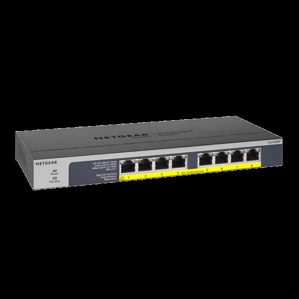 Netgear 8 PORT Gigabit POE+ 123W Switch GS108PP 28Aug17 right