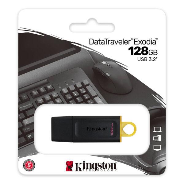 Kingston DataTraveler Exodia 128GB USB 3.2 Gen 1 Flash Drive DTX 128GB 3