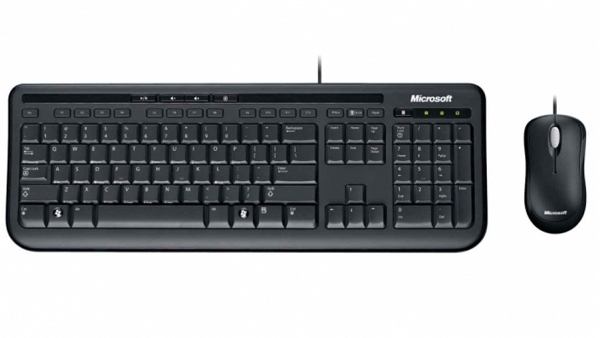 Microsoft Desktop 600 Wired Keyboard and Mouse Combo APB 00018