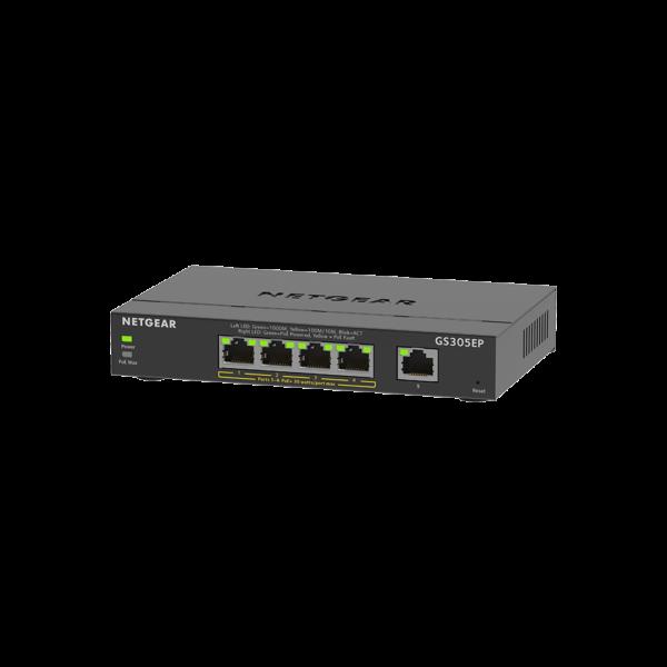 Netgear 5 Port SOHO Plus PoE+ Gigabit Ethernet Switch 63W GS305EP 1