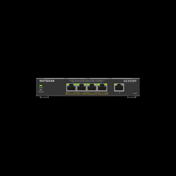 Netgear 5 Port SOHO Plus PoE+ Gigabit Ethernet Switch 63W GS305EP 3