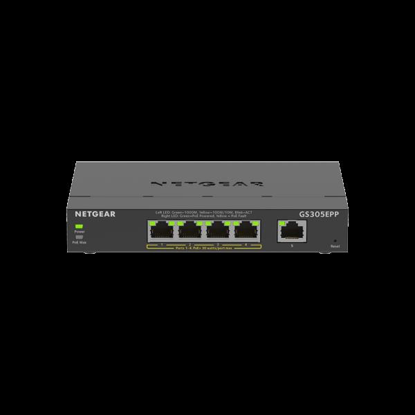 Netgear 5 SOHO Plus PoE+ Gigabit Ethernet Switch 120W GS305EPP 100AUS 1