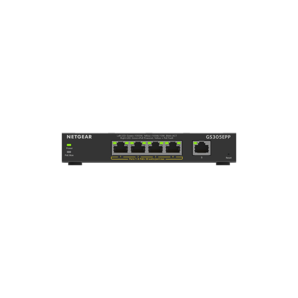 Netgear 5 SOHO Plus PoE+ Gigabit Ethernet Switch 120W GS305EPP 100AUS 2