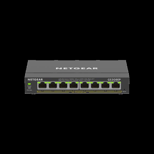 Netgear 8 SOHO Plus PoE+ Gigabit Ethernet Switch 63W GS308EP 100AUS 1