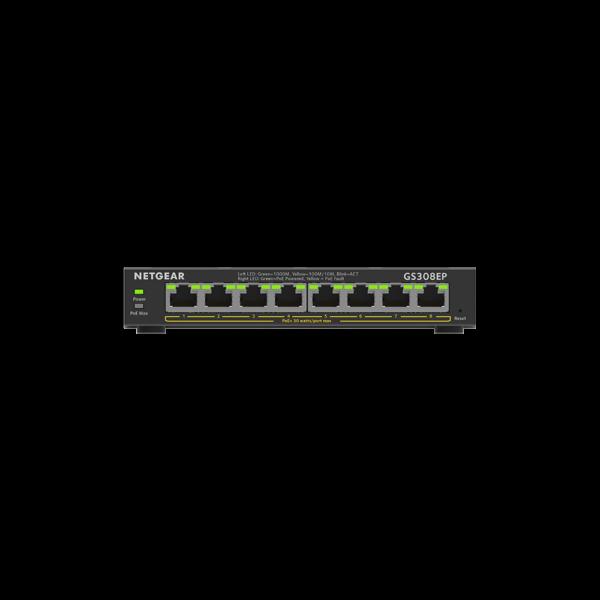 Netgear 8 SOHO Plus PoE+ Gigabit Ethernet Switch 63W GS308EP 100AUS 2
