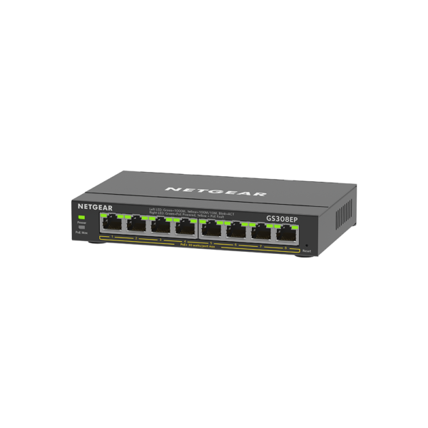 Netgear 8 SOHO Plus PoE+ Gigabit Ethernet Switch 63W GS308EP 100AUS 3