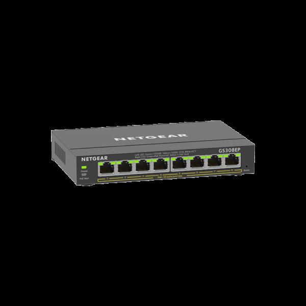 Netgear 8 SOHO Plus PoE+ Gigabit Ethernet Switch 63W GS308EP 100AUS 4