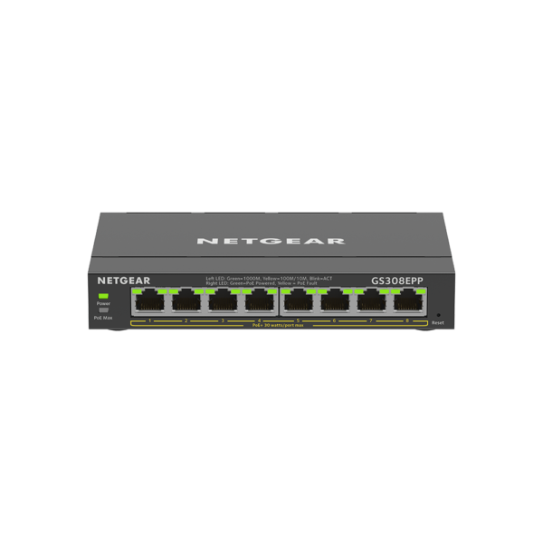 Netgear 8 SOHO Plus PoE+ Gigabit Ethernet Switch 123W GS308EPP 100AUS 1