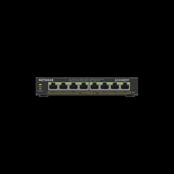 Netgear 8 SOHO Plus PoE+ Gigabit Ethernet Switch 123W GS308EPP 100AUS 2
