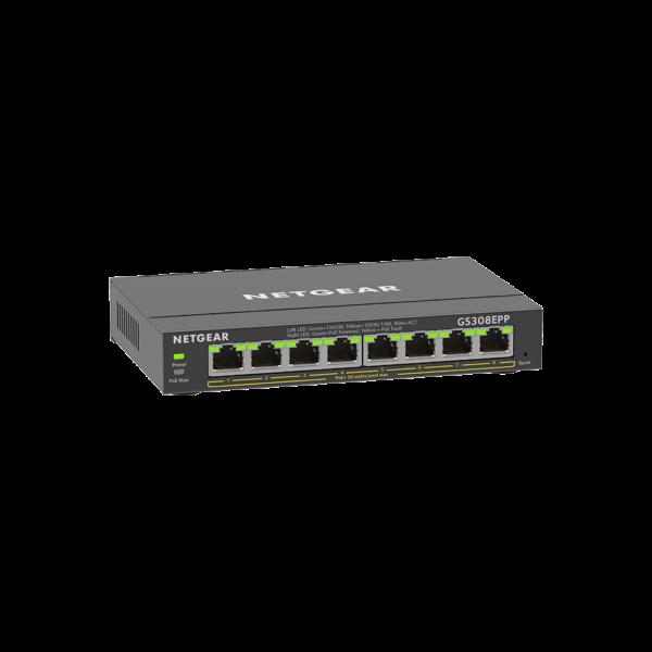 Netgear 8 SOHO Plus PoE+ Gigabit Ethernet Switch 123W GS308EPP 100AUS 4